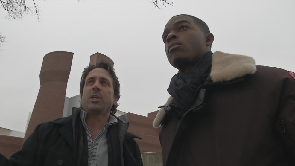 Actor Stephan James on OSU's campus (WSYX/WTTE)