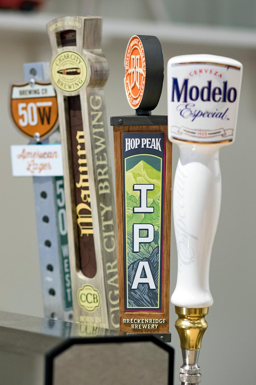 The Arepa Place also serves beer on draft. / Image: Allison McAdams // Published: 3.4.19