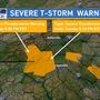 Severe Thunderstorm Warnings for multiple counties in NC, SC