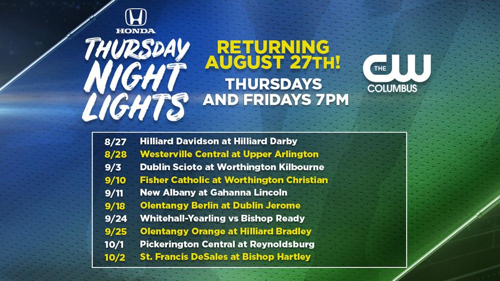 CW Columbus 2020 Honda Thursday Night Lights Schedule Announced