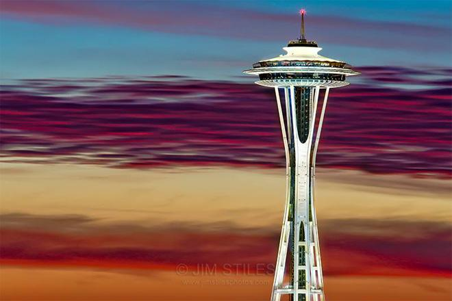 Glorious Space Needle Sunset (Photo: Jim Stiles)