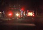 (image: WPMI) Fire personnel on scene on General Rd in Tillman's Corner