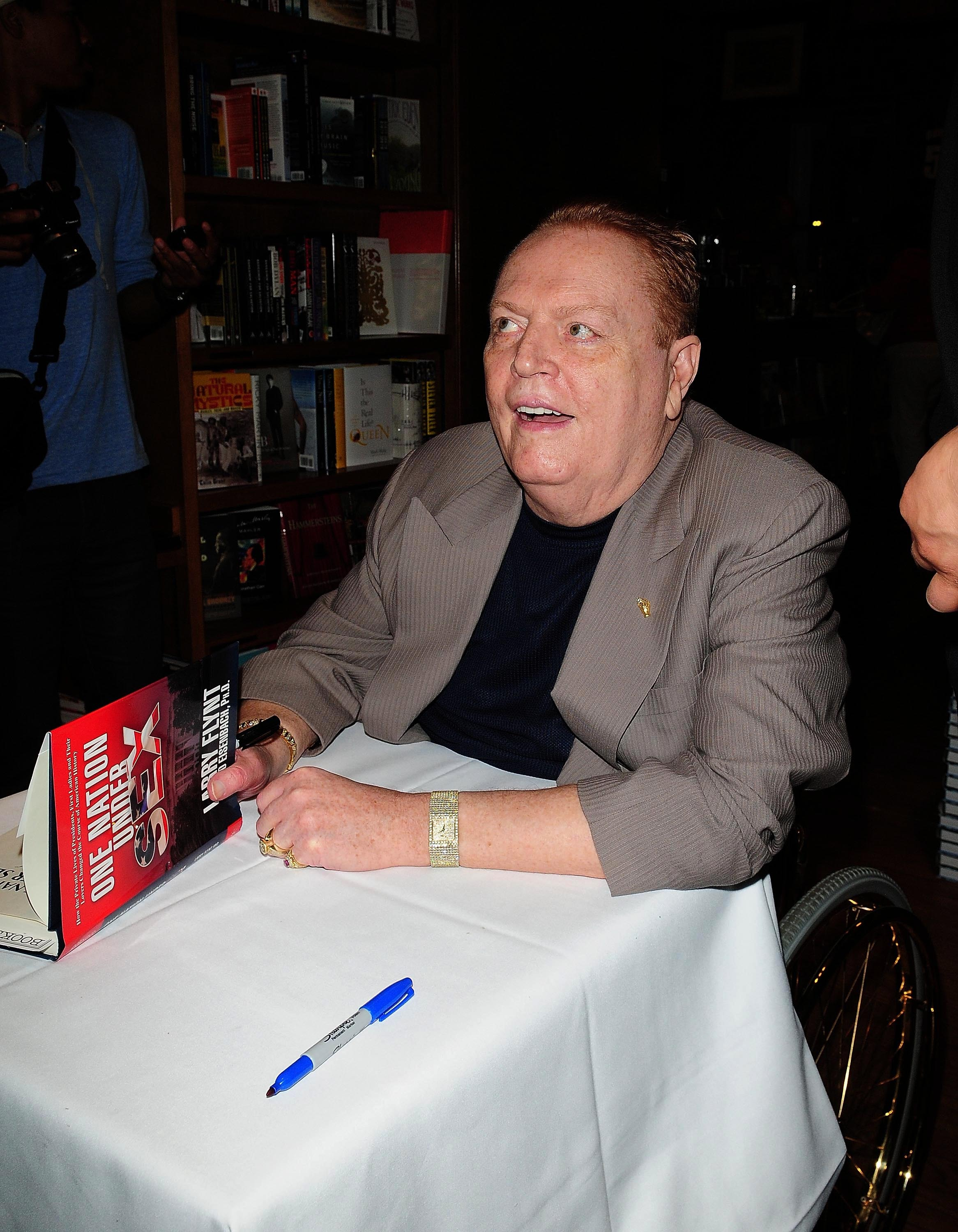 Larry Flynt signs copies of his book 'One Nation Under Sex: How the Private Lives of Presidents, First Ladies and Their Lovers Changed the Course of American History' at Books and Books Coral Gables, Florida - 03.06.11  Featuring: Larry Flynt Where: Coral Gables, Florida, United States When: 03 Jun 2011 Credit: Johnny Louis/WENN.com