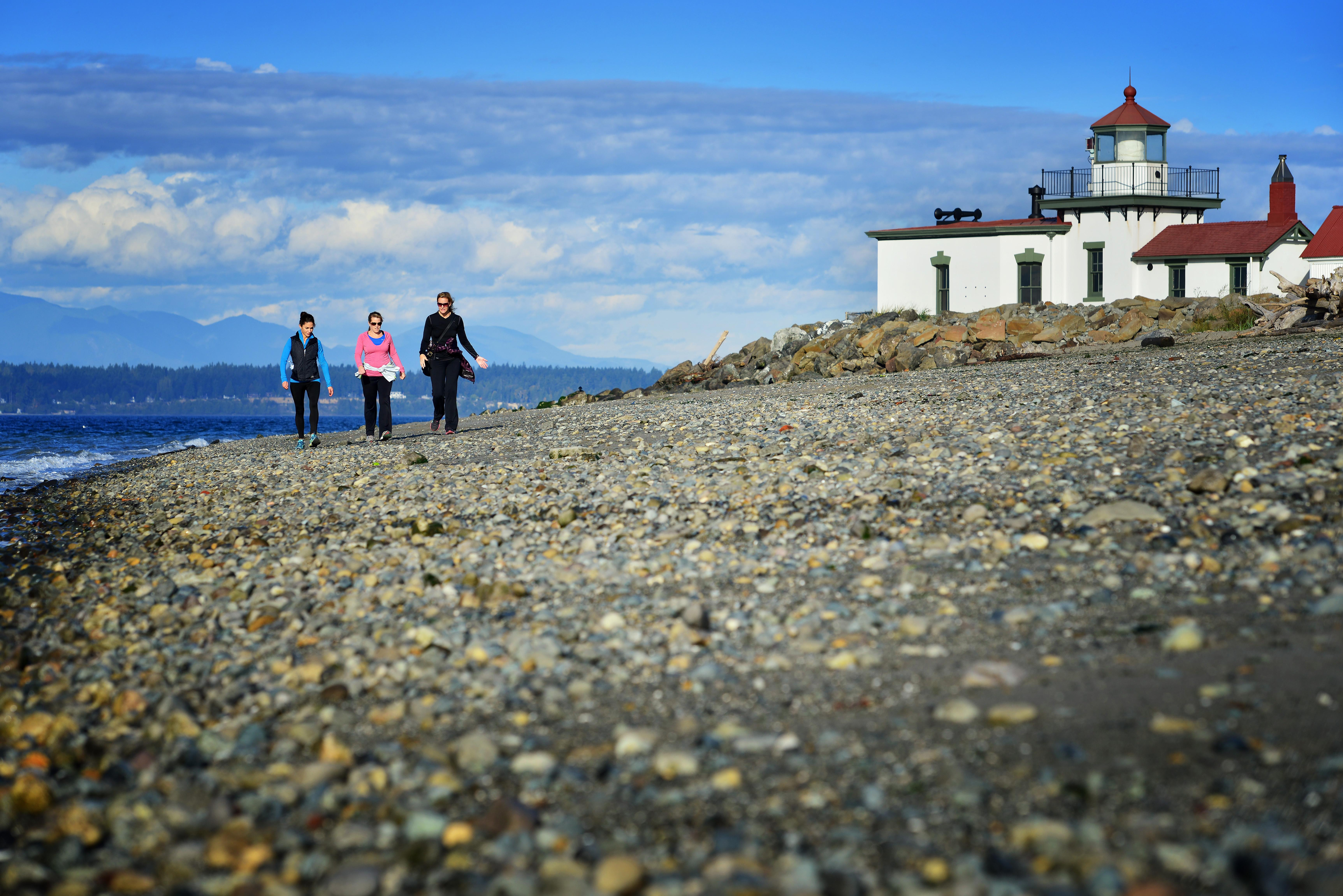Fort Lawton residents are a quick walk from the  the Puget Sound's sandy shores and sapphire waters.