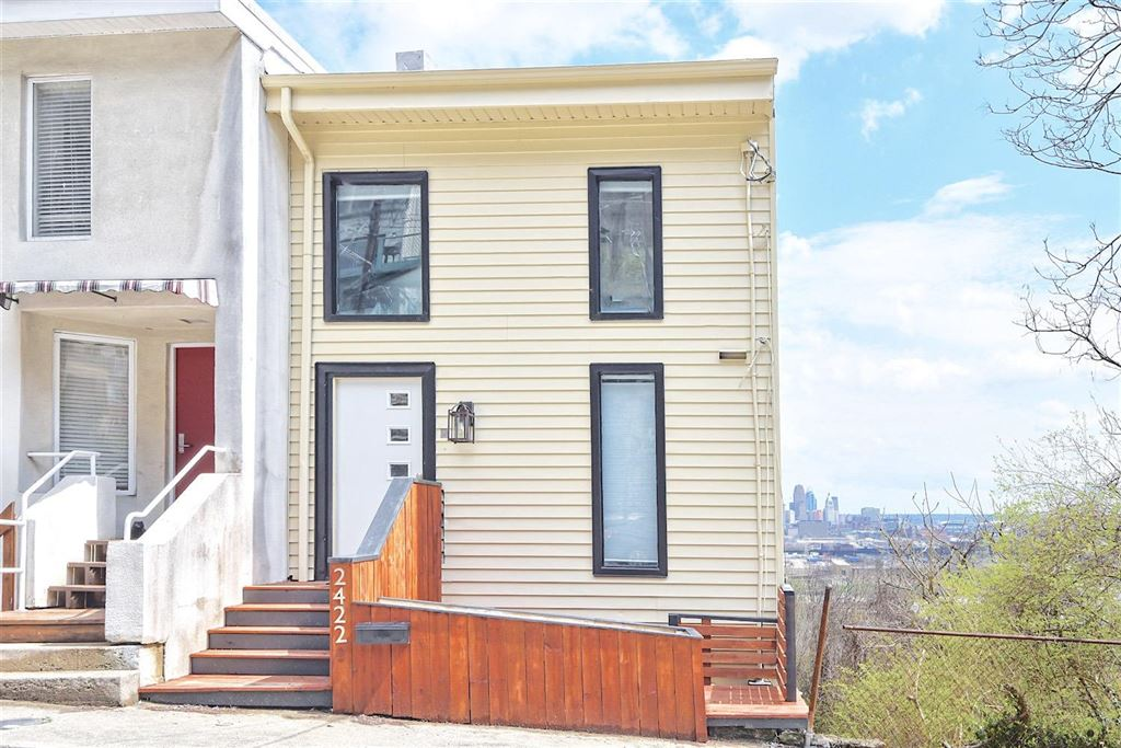 2422 Maryland Avenue is a 3-bedroom, 2-bathroom row house on the market in the Incline District of Price Hill for $224,900. / Image courtesy of The Finn Team of Coldwell Banker West Shell // Published: 5.23.18