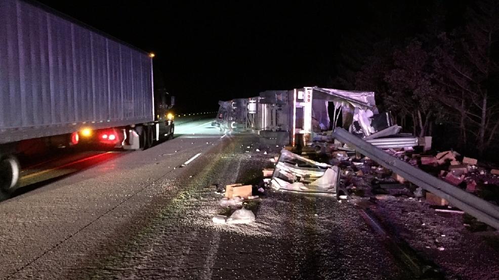 Semi-truck accident blocking northbound lanes on I-5 | KTVL