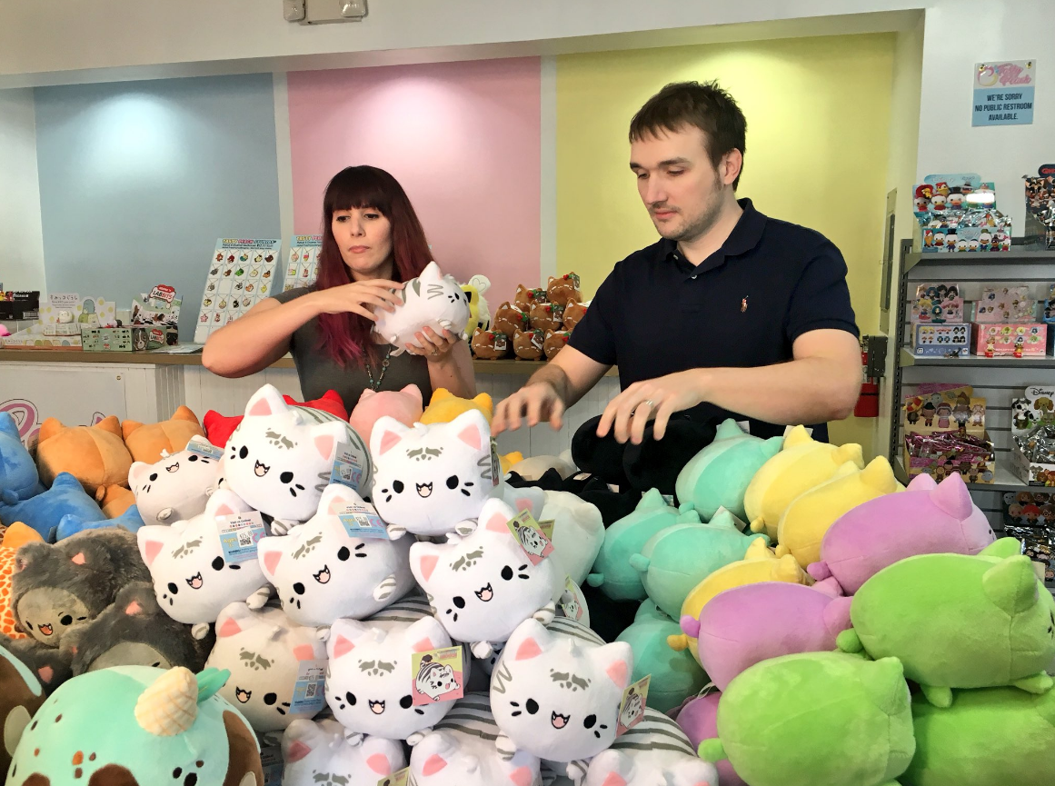 A local couple is setting up shop with an anime-inspired business in Mishawaka. // WSBT 22 photo