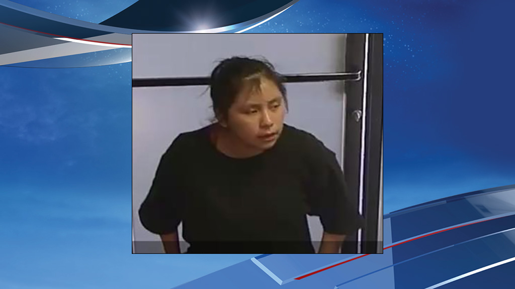 Surveillance photo shows a woman  allegedly involved in the kidnapping, believed to be Violetta Culps. (Photo from Cheney Police Dept.)