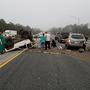 Chain-reaction crash on I-10 leaves two injured