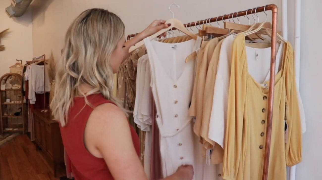 "One of A Style Breeze's most popular services is the Closet Cleanout. Alli organizes the items inside, color coordinates them, and makes note of what's missing from the wardrobe. She brings a closet checklist to go through that will ensure you have essentials needed for everything from work outfits to clothing for special occasions. ""I think if you have a full wardrobe, no matter what the event that pops up, you should be able to have something you can wear to it,"" says Alli. She also helps you part with items that are damaged or simply haven't be worn in years. / Image courtesy of Alli Robben // Published: 2.19.20"