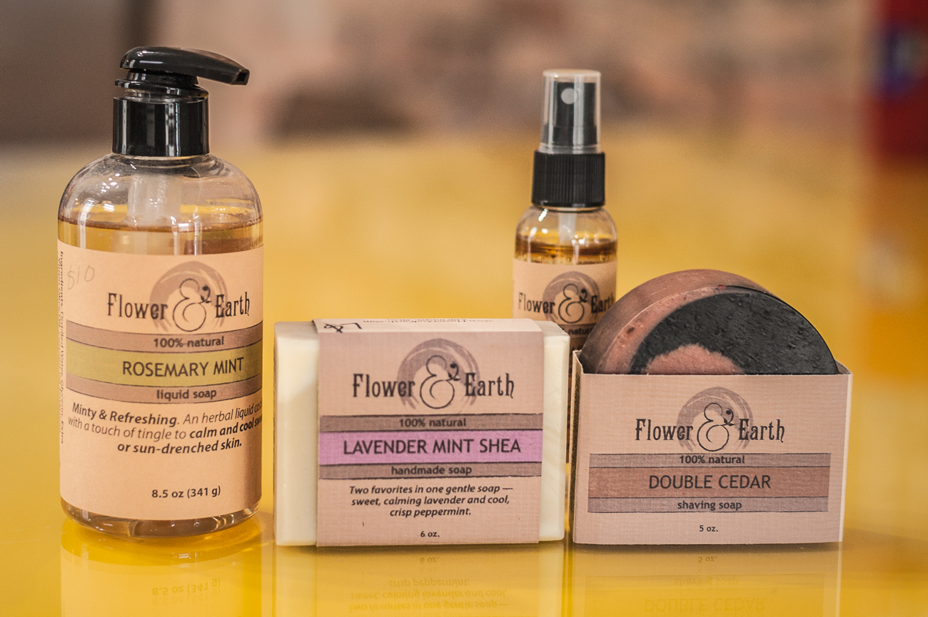 <p>Flower & Earth soap, body wash, and mist{&nbsp;}from The Welcome Project / Image: Kellie Coleman // Published: 1.7.21</p>