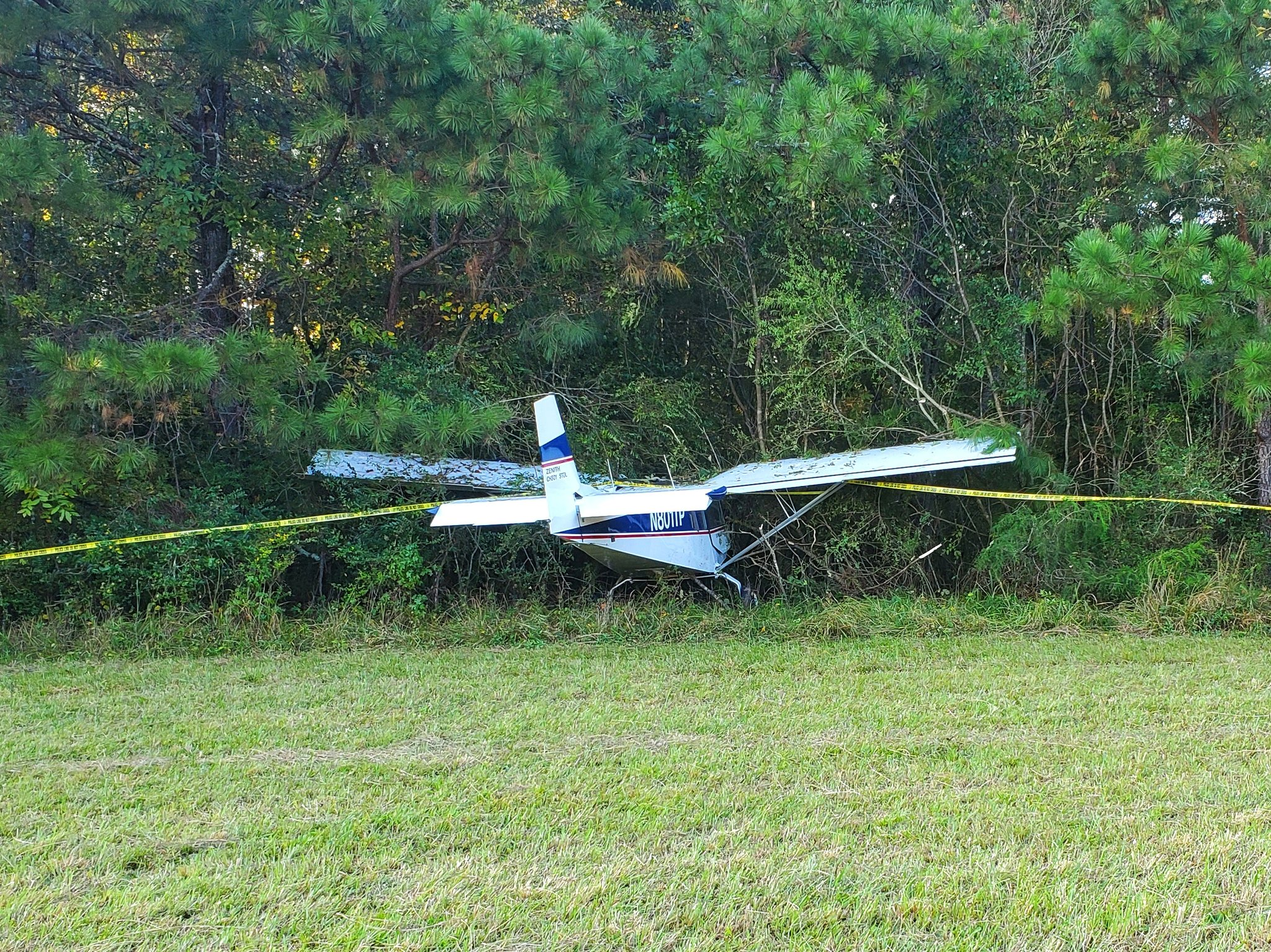 Plane crashes near Collegedale airport 10.12.2020. (Image: Tri-Community Volunteer Fire Department)