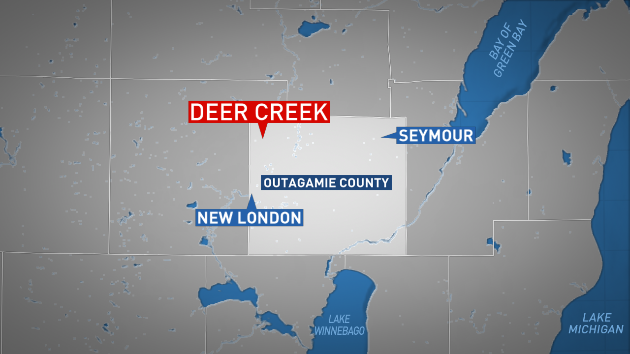 Location of a fatal fire in the Outagamie County Town of Deer Creek March 13, 2018. (WLUK image)