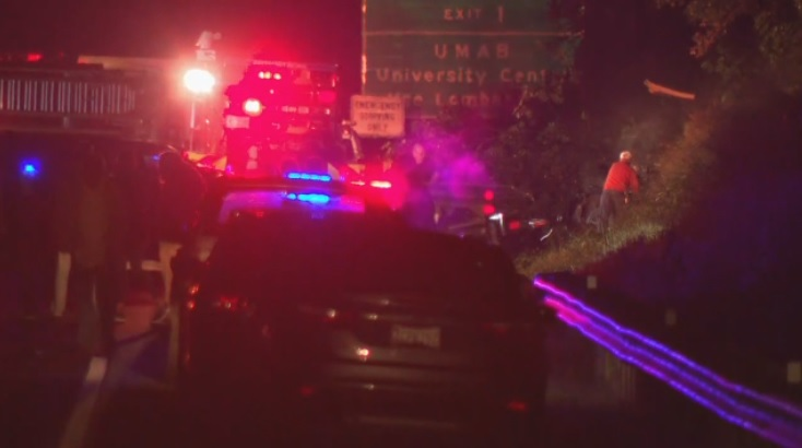 One dead in single car crash on I-83 Monday morning