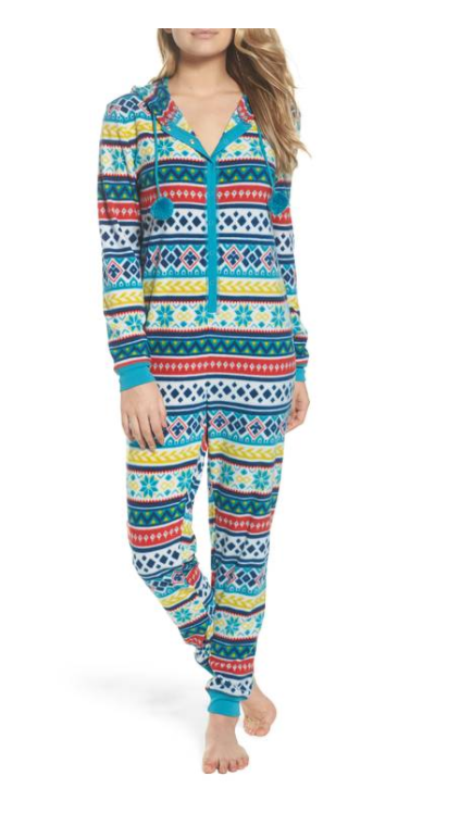 Hooded Pajama Jumpsuit from Make + Model, $49 (Image courtesy of Nordstrom).<p></p>