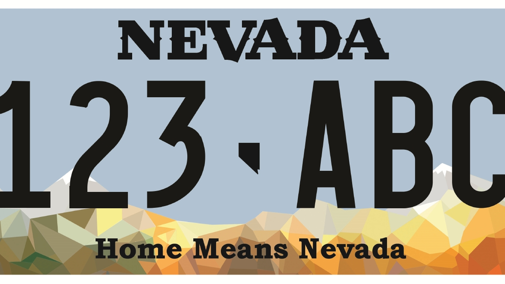 Dmv unveils new standard 39 home means nevada 39 license plate for Department of motor vehicles carson city nevada
