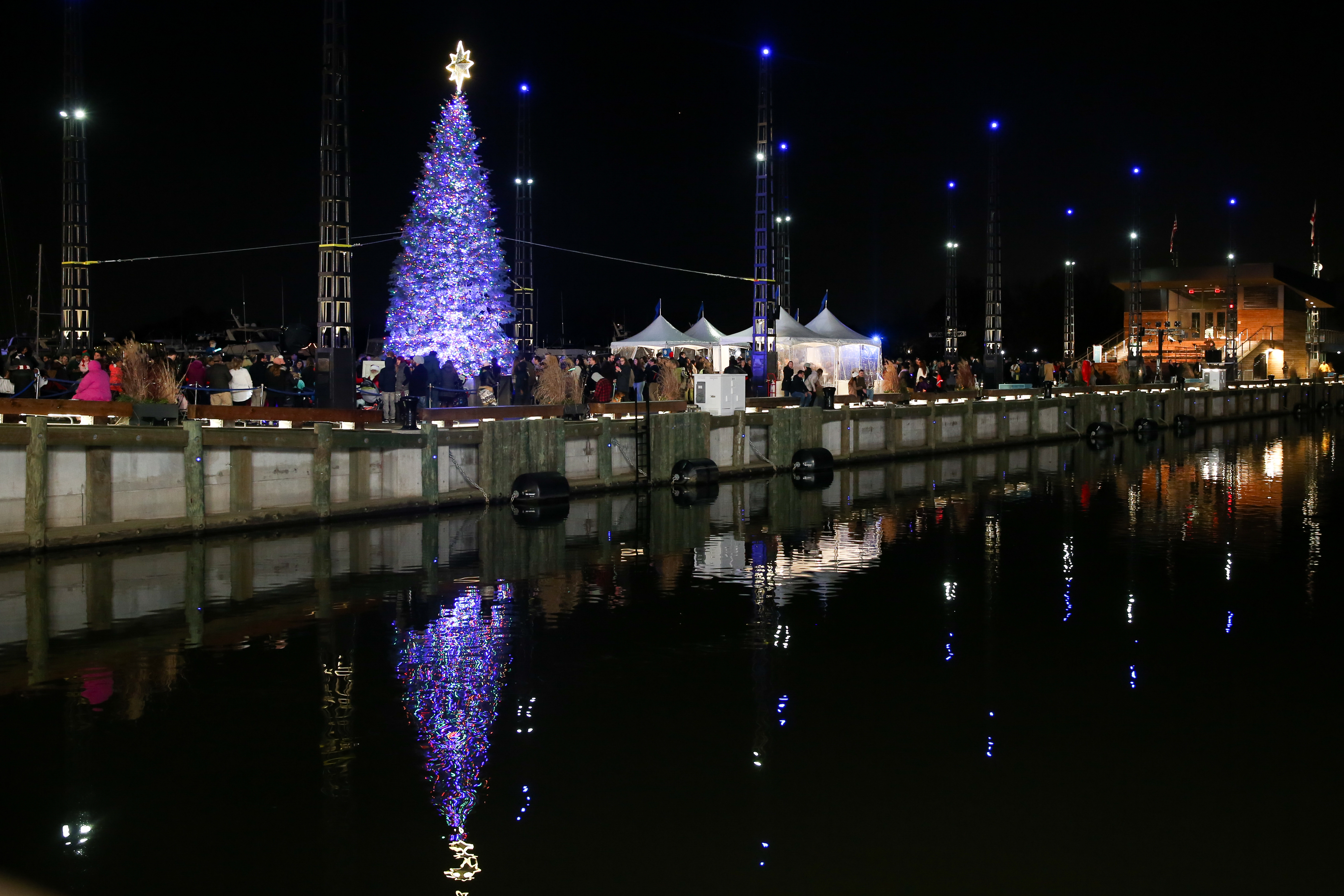 Santa Claus was on hand to light up The Wharf's first Christmas tree on December 1. However, the gorgeous tree wasn't the only draw. Visitors made s'mores, decorated gingerbread men a
