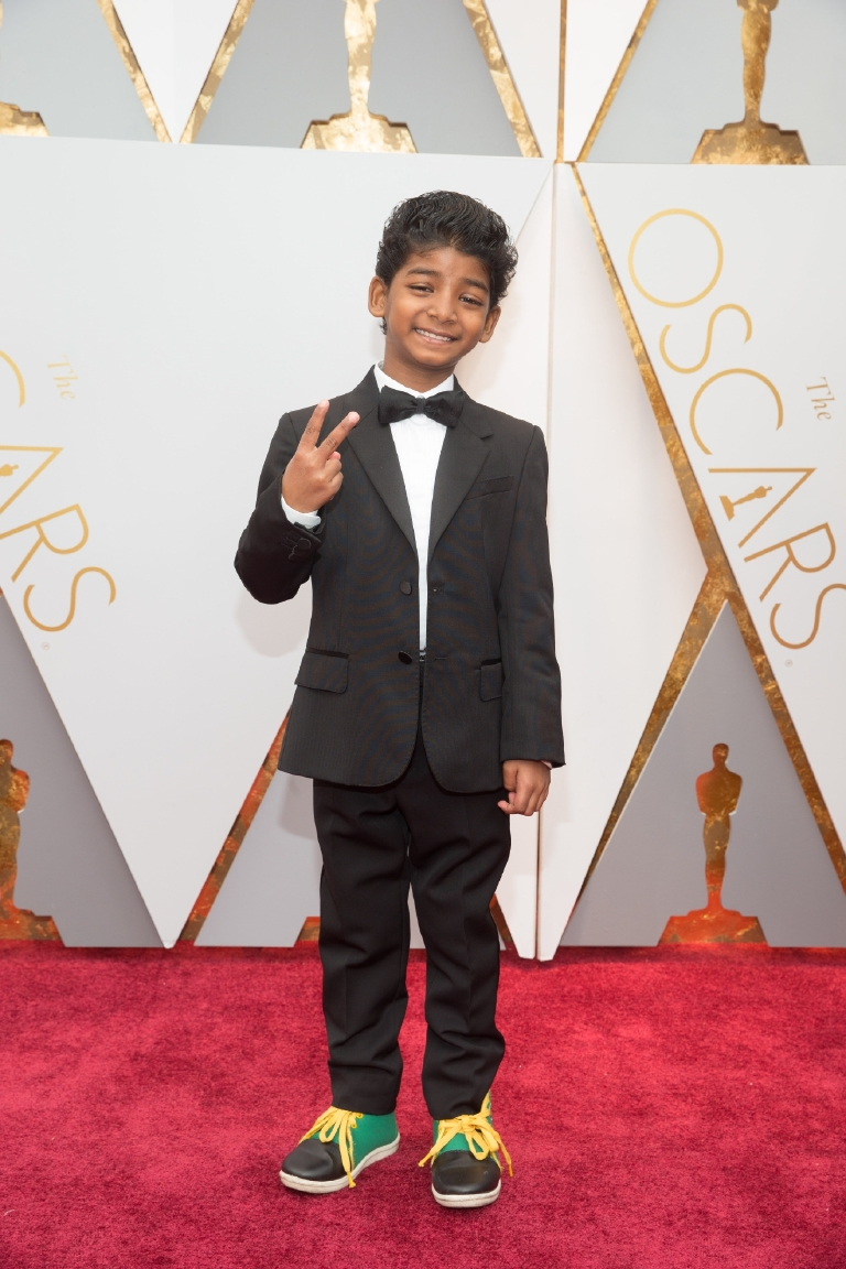 Actor Sunny Pawar arrives on the red carpet at The 89th Oscars® at the Dolby® Theatre in Hollywood, CA on Sunday, February 26, 2017. (©A.M.P.A.S.)
