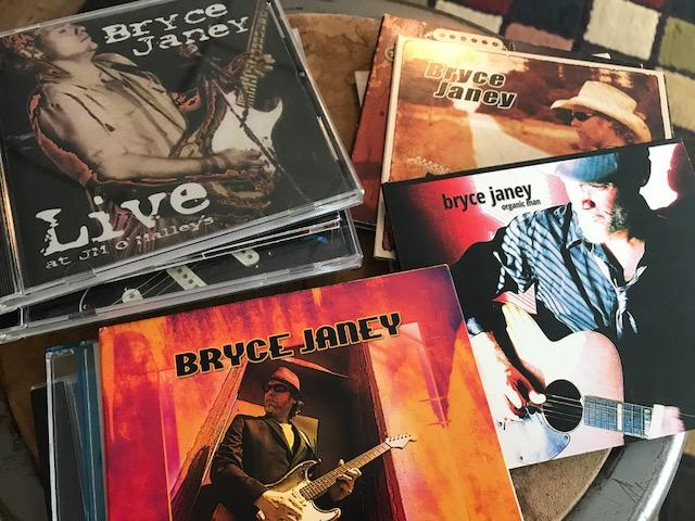 A collection of CDs recorded by blues musician, Bryce Janey.  The Cedar Rapids man has several releases on the Grooveyard Records label and has a new CD due out in 2018.