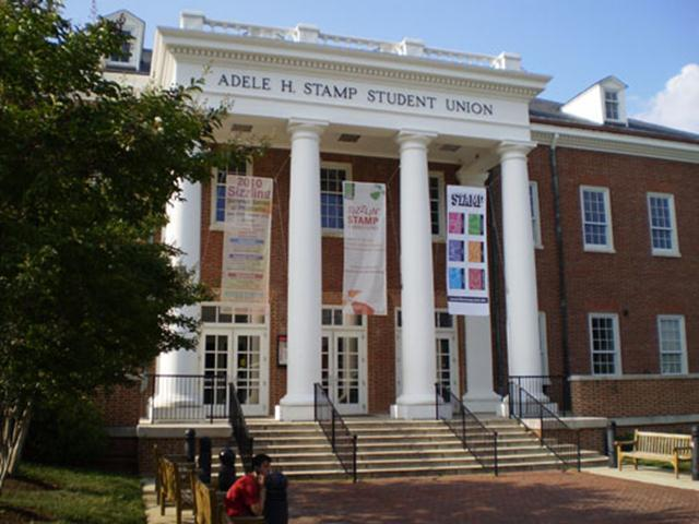 Stamp houses almost all of the student organizations and activities offered, the union receives more than 19,000 visitors each day. It contains a Union Shop, University Book Center, and Terrapin Technology Store, and large food court.