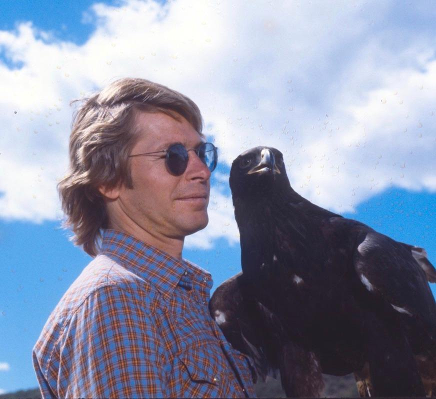 "Wildlife Images photo{ } Phoenix with John Denver on set of Denver's ""Rocky Mountain Reunion."""