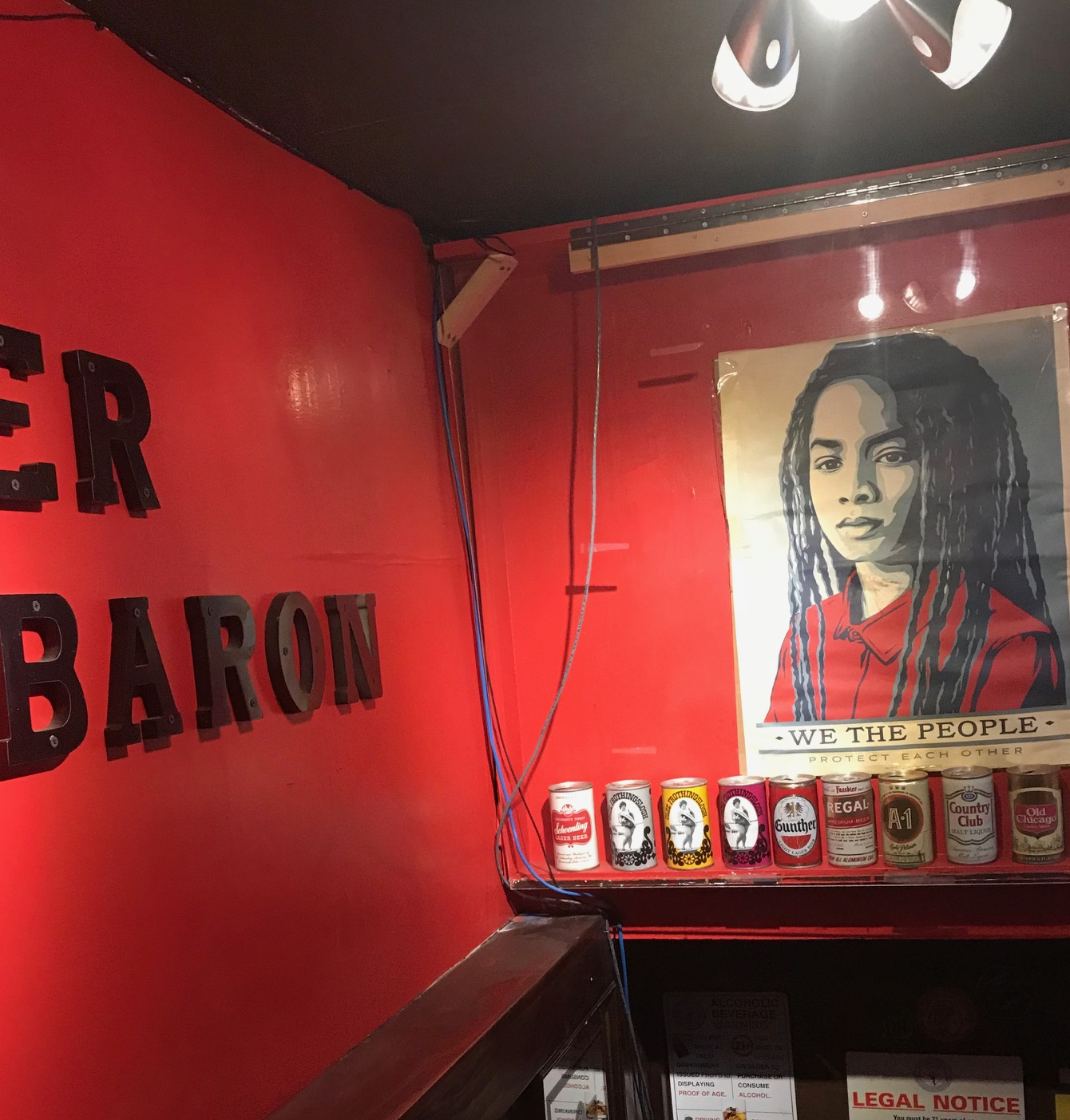 In the basement of a brand-new Dupont Circle comedy club and former home of D.C. institution The Brickskeller, Bier Baron is a dark and musty relic of another era (Image: Eliza Berkon)