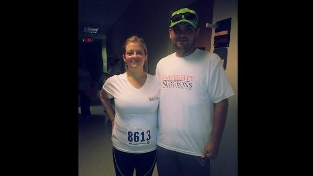 In August, the couple completed their first 5K race. They reached their goal of completing the race in under an hour.