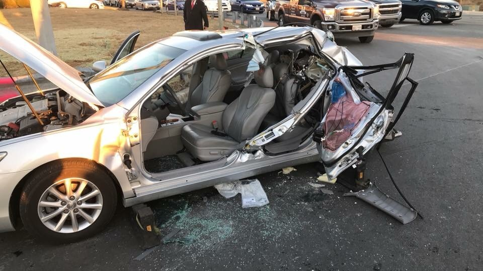 One person in serious, but stable condition after Edgewood crash; &quot;Jaws of Life&quot; used to save entrapped victim : Photo courtesy of JMVFC<p></p>