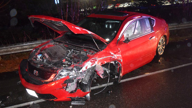 Highway mayhem: Wrong-way driver collides with suspected DUI driver