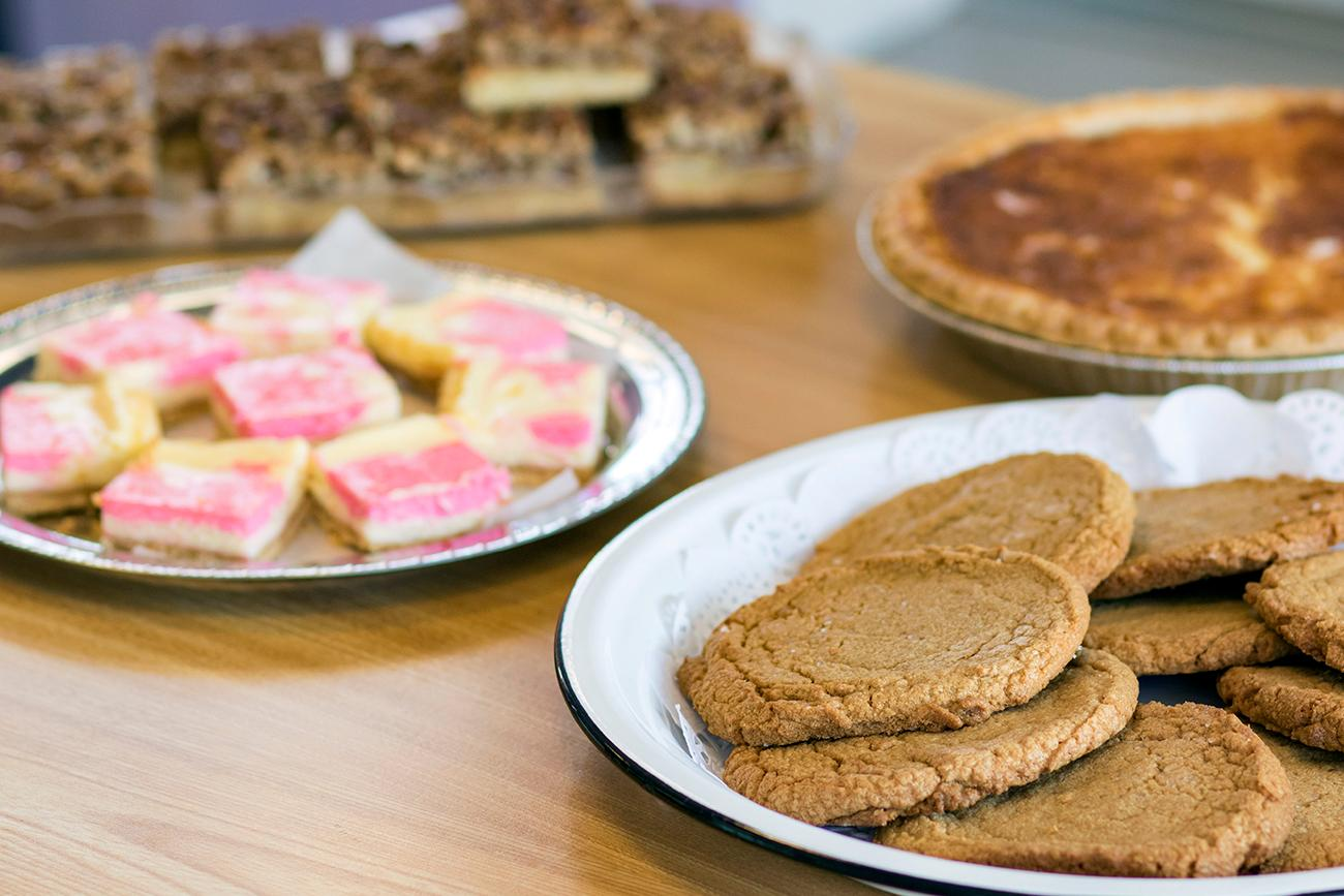 <p>Gluten-free peanut butter cookies, mosaic cheesecakes, and buttermilk pie{&nbsp;}/ Image: Allison McAdams // Published: 11.9.18</p>