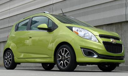 Weighing in at a mere 2,337 pounds, this thrifty minicar is Chevrolet's smallest car to date, and also one of its most fuel efficient with a combined EPA of 34 mpg.Base MSRP: $15,045