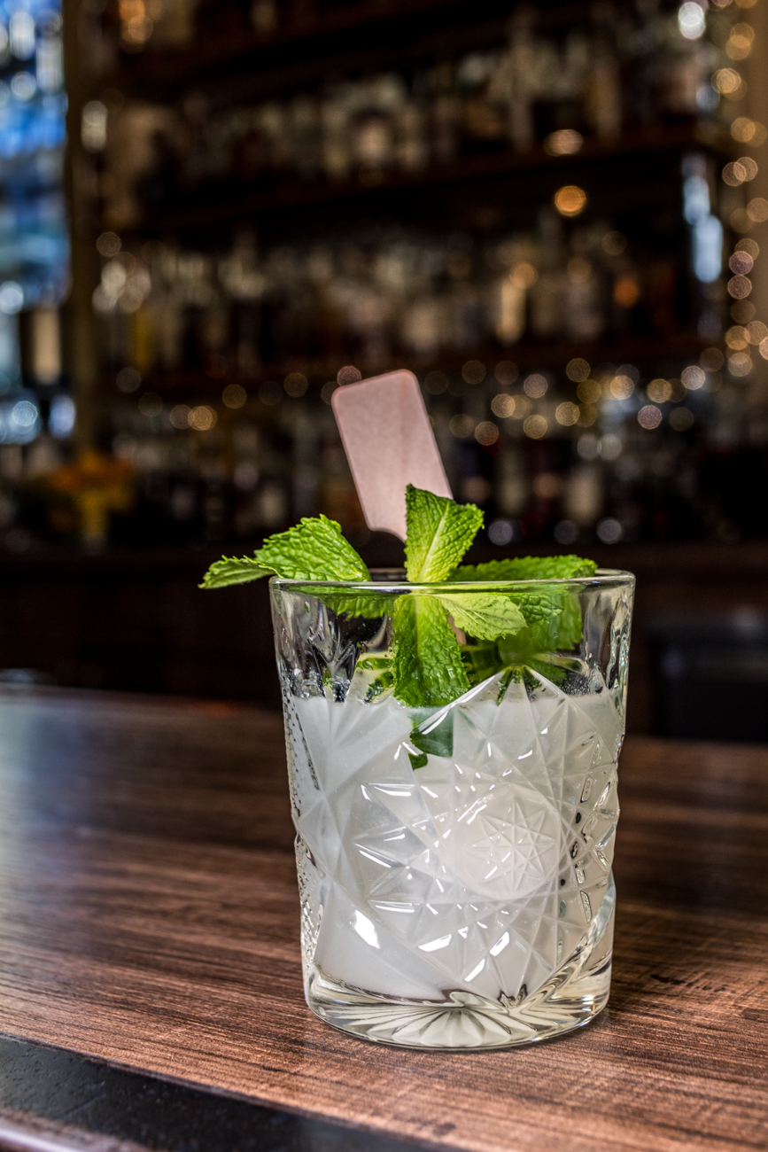 Findlay Market: gin, St-Germain, cucumber, mint, and lime juice / Image: Catherine Viox // Published: 1.23.20