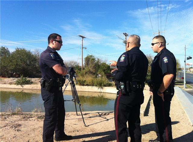 File photo: Mission police searching canal