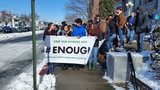 Cranston students protest gun violence in memory of Parkland victims