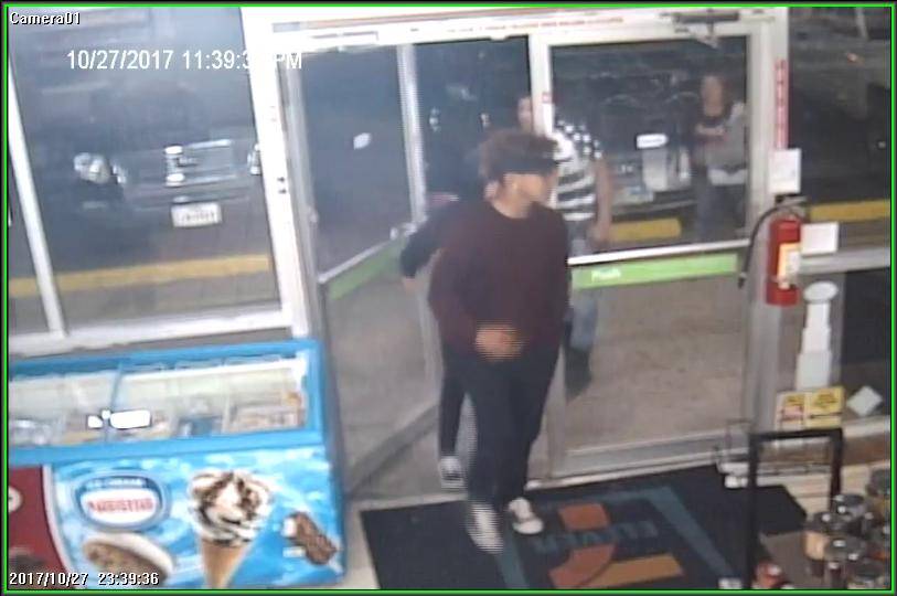 Three people are accused of taking two 18-packs of beer from the 7-Eleven located at 720 N. Fabens Road on Oct. 27. Credit: El Paso County Sheriff's Office.