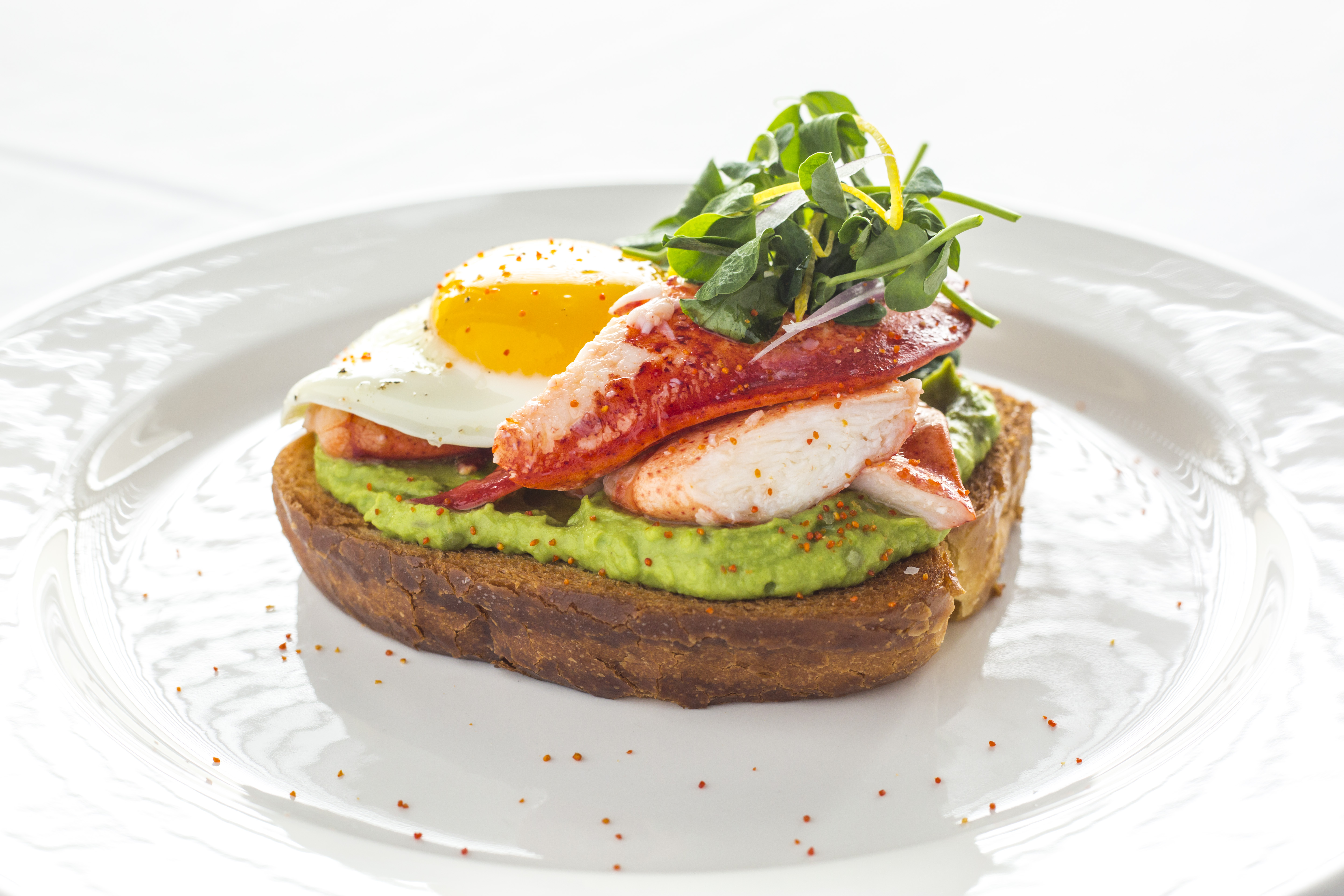 <p>Ocean Prime only offers brunch on a few holidays every year, but the dishes are delicious. The offerings include lobster toast, blood orange mimosas, crab and eggs and more. (Photo courtesy of Ocean Prime)</p>