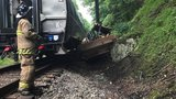 Doctor: Operator of backhoe 'lucky to be alive' after being hit by train