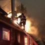 Firefighters battle Wallingford fire