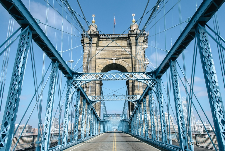 Straight down the Center of the Roebling. March 9, 2014 / Image: Corey Stevens