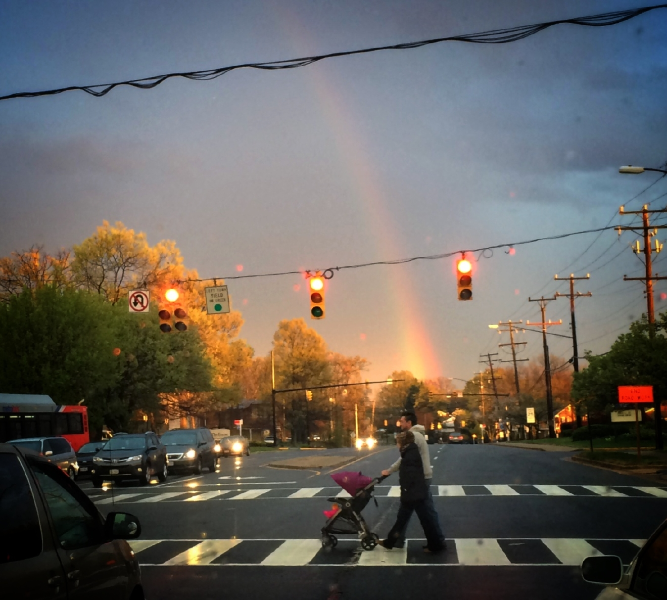 photos after the storm comes the rainbow wjla a rainbow in the sky photo by viewer john rice jr
