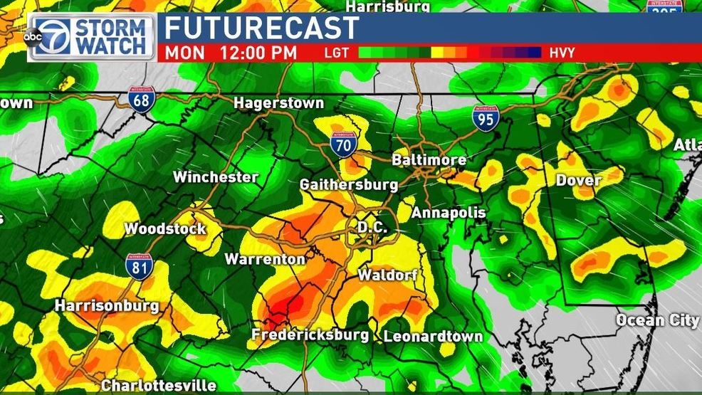 Soggy Monday with Severe Storm Threat