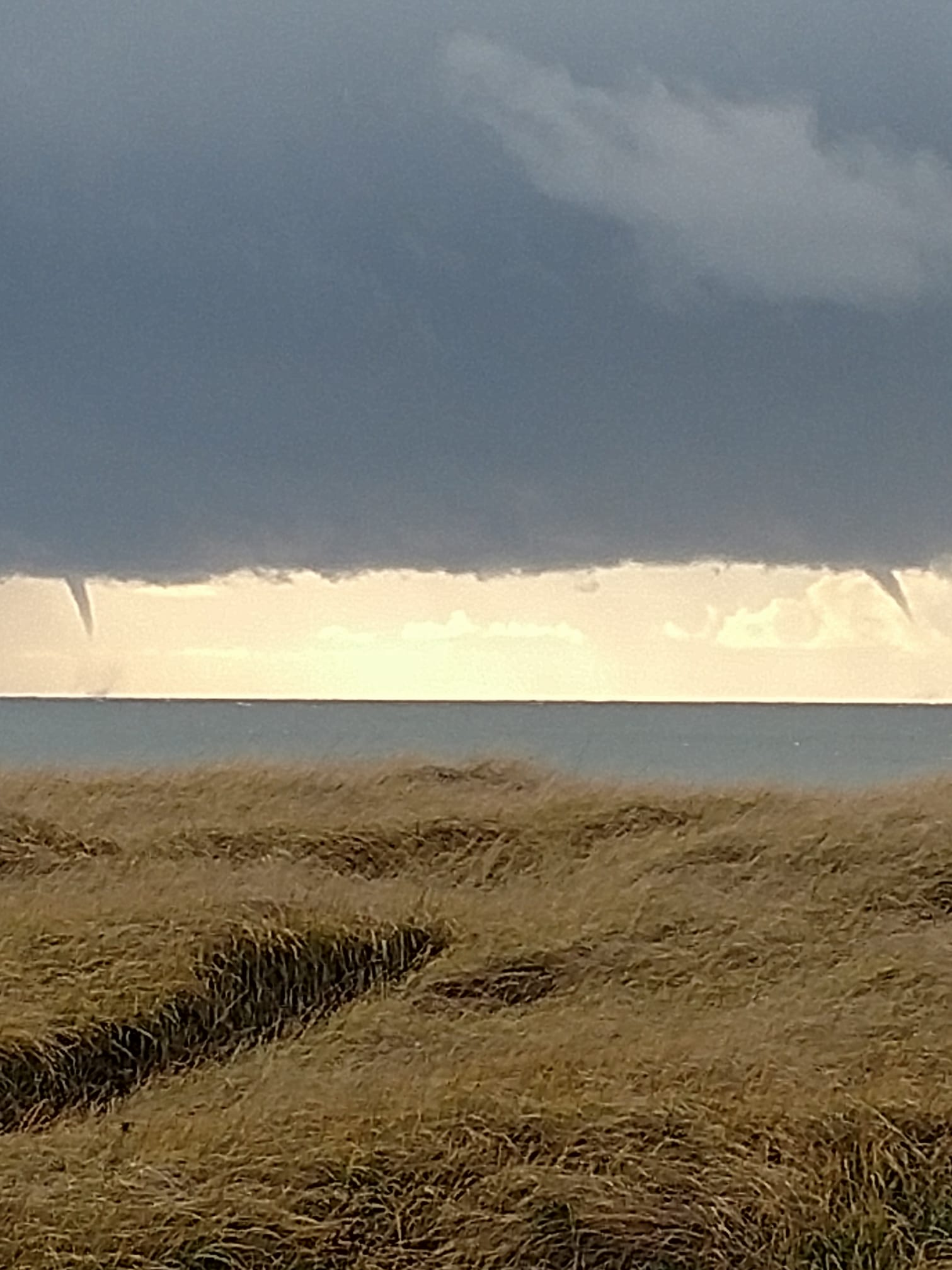 Two waterspouts were spoted off Ocean Shores on Thursday afternoon. (Photo: Debbie Starkey Ferguson)<p></p>