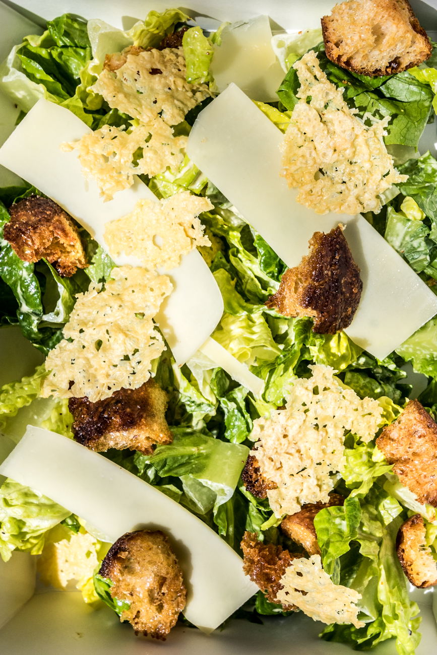 Caesar salad: Parmesan Crisps, house-made Caesar dressing, and garlic croutons / Image: Catherine Viox // Published: 5.16.20