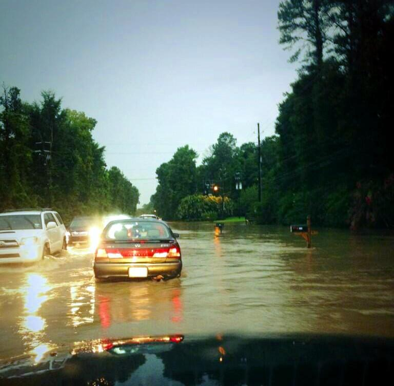 Flooding near Highway 119 and Cahaba Valley Road.
