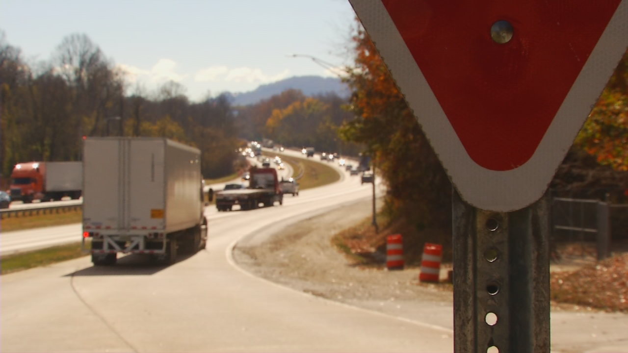 Opponents trying to stop shipments of radioactive waste through the mountains say a single accident could cause a nuclear catastrophe.   (Photo credit: WLOS staff)