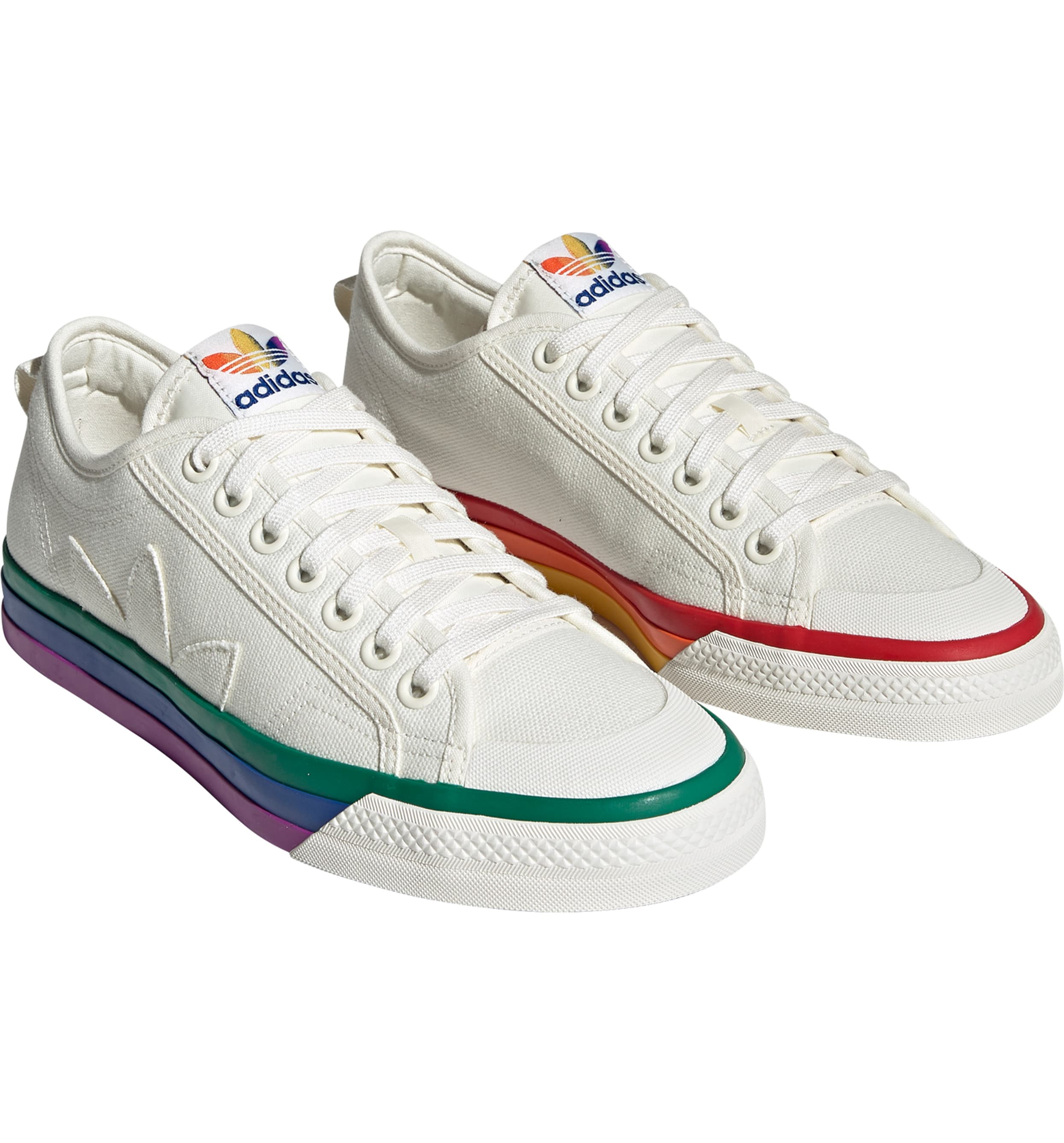 These proudly re-imagined canvas sneaker whose '80s-basketball roots score points with a new generation are a staple not just for Pride, but for every dang day.{ } Price $70 (Image: Nordstrom){ }