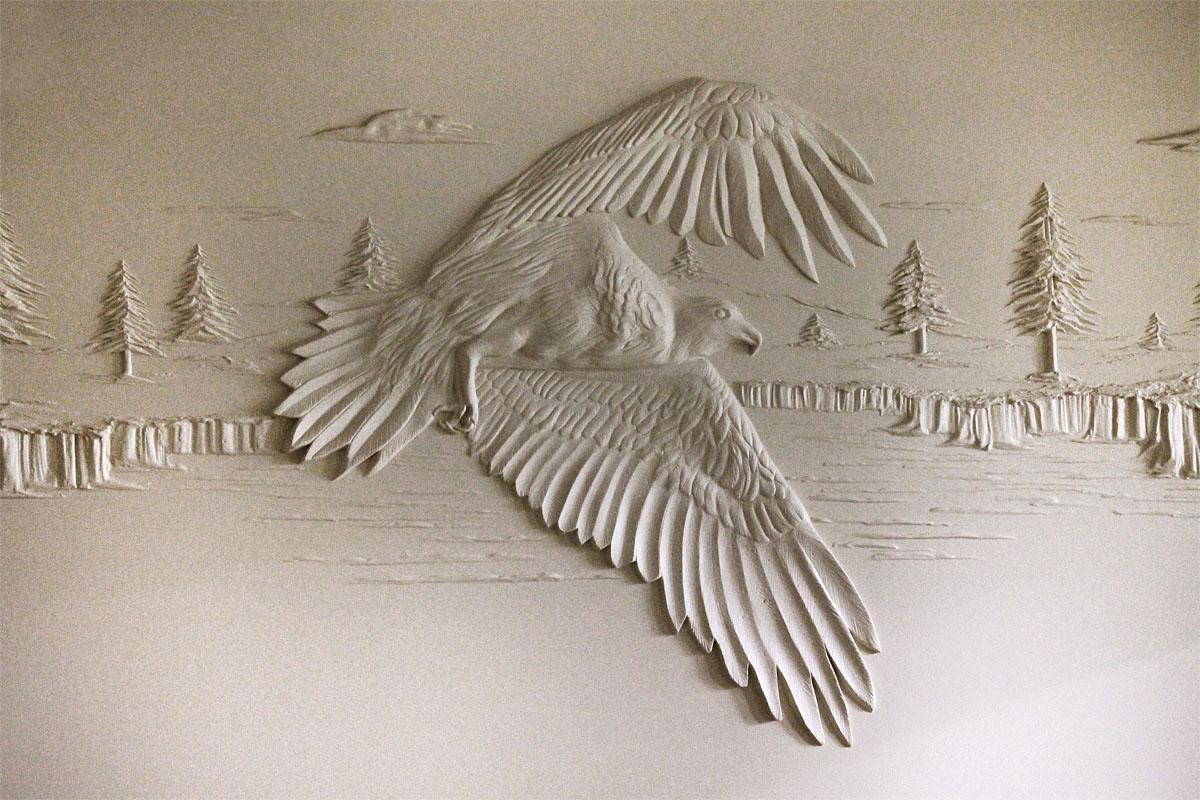 Plaster Art Wall : Plaster Art Wall Photos: drywall contractor creates 3d art with ...