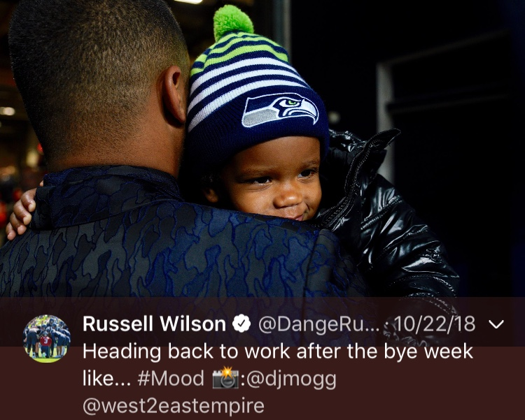 That one time he showed he was a great dad, AGAIN....Happy 30th birthday, Russell! (Image: @dangerusswilson / twitter.com/dangerusswilson)