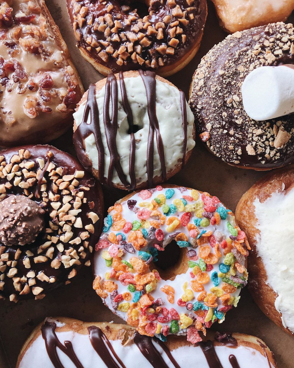 Donut Factory offers 80 different types of donuts on a daily basis. From classics like cake donuts, maple bars and fritters to fresh flavors like Fruity Pebbles and Oreo. (Courtesy: Donut Factory)