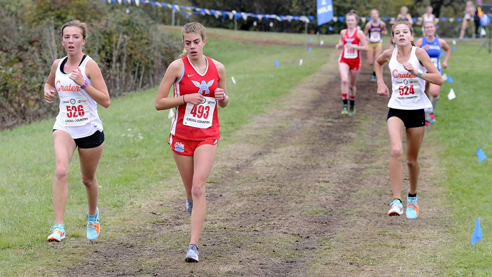 OSAA Oregon State Cross Country Championships at Lane Community College in Eugene, 11-4-17. - Andy Atkinson